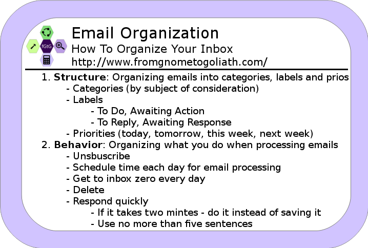 Email Organization - How To Organize Your Inbox