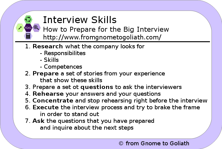 Interview skills - how to prepare for an interview in 7 steps