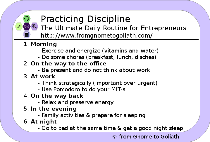 Practicing Discipline - The Ultimate Daily Routine
