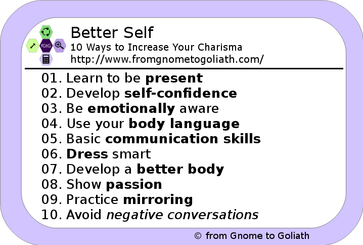 Better Self - 10 Ways to Increase Your Charisma