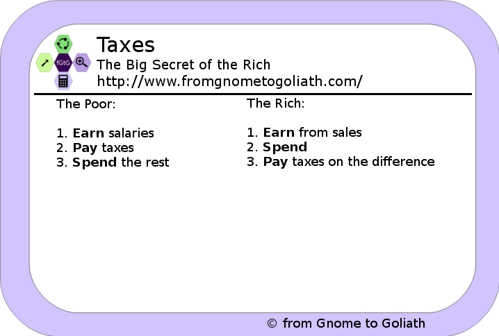 Taxes - The Big Secret of the Rich