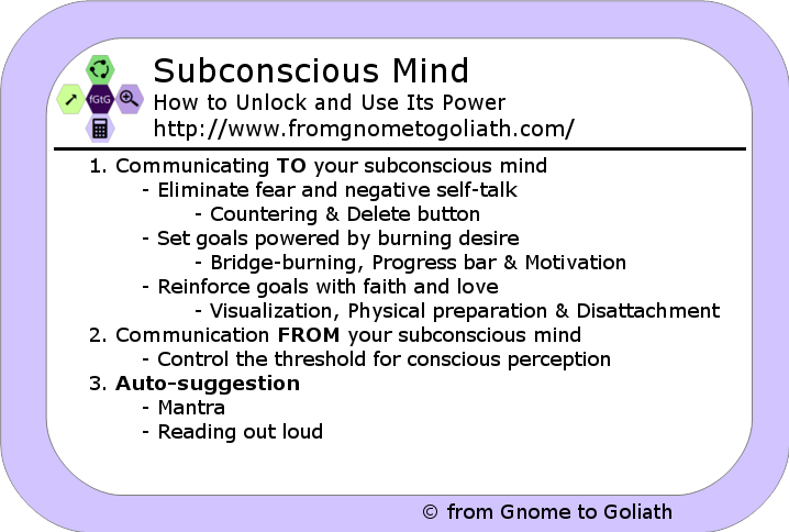 how to use subconscious in a sentence