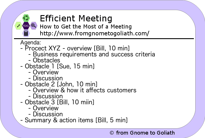Efficient Meeting - Sample Agenda