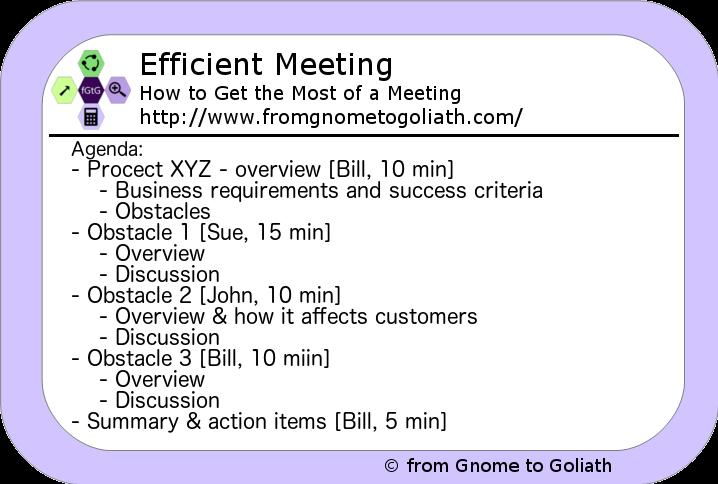 Efficient Meeting - Sample Agenda