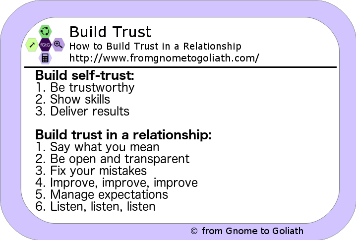 Build Trust - How to Build Trust in a Relationship