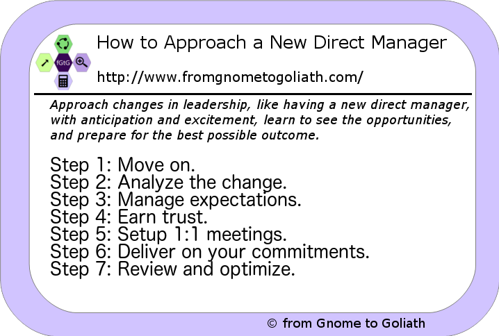 How to approach a new direct manager