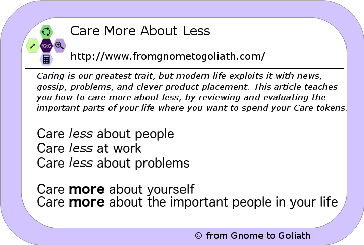 Care More About Less