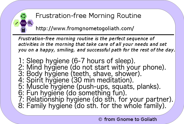 Frustration-free morning routine