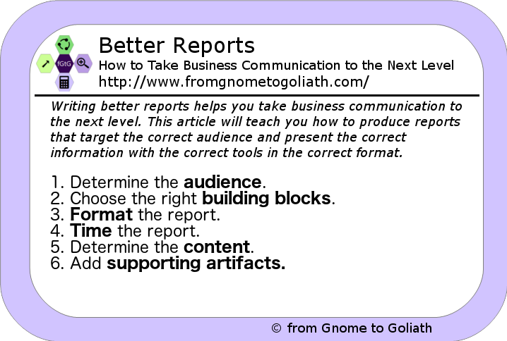 Better Reports
