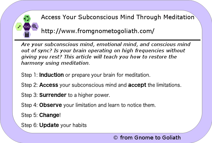 Access Your Subconscious Mind Through Meditation