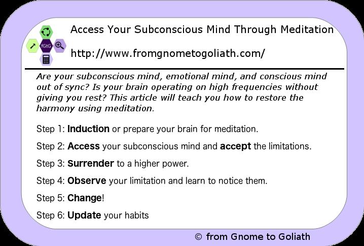 Access Your Subconscious Mind Through Meditation
