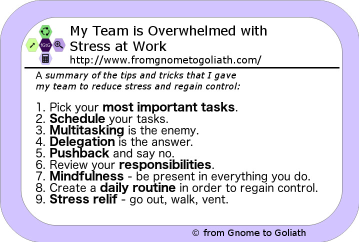 My Team is Overwhelmed with Stress at Work