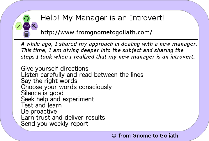 Help! My Manager is an Introvert!