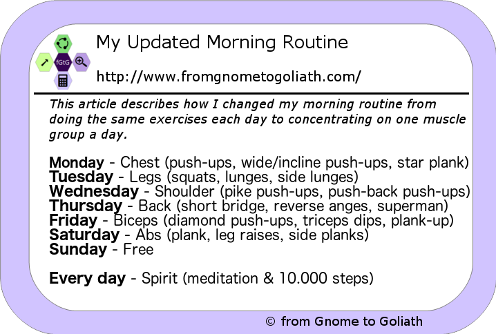 Updated Morning Routine