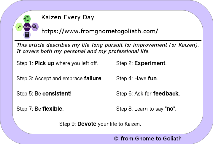 Kaizen Every Day