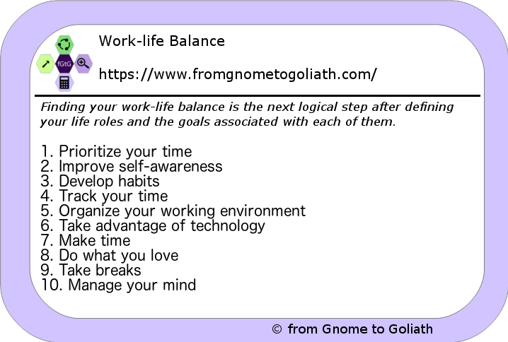 10 steps to improve work-life balance