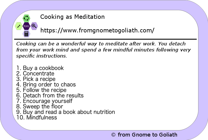 Cooking as Meditation