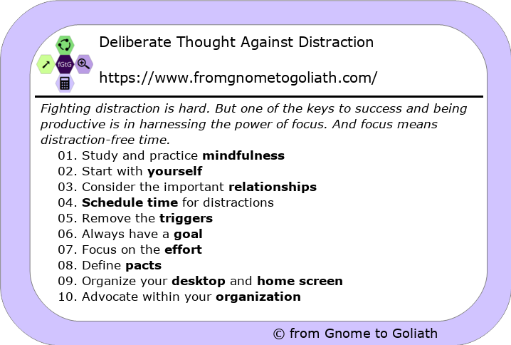 Deliberate Thought Against Distraction